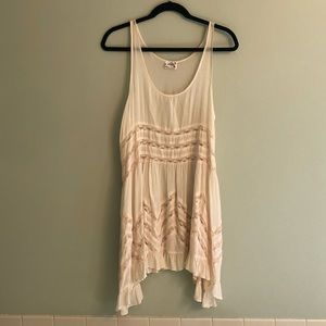 Free People Voila and Lace Slip in 'Tea' Sz M